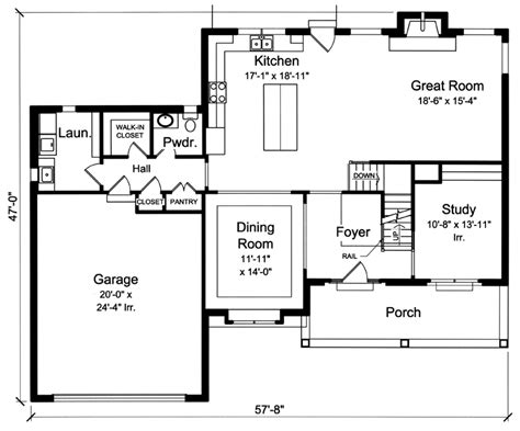 great home plans collections of 2 story great room floor plans free home