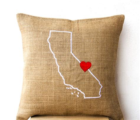 Embroidered State Pillows by Burlap Pillows State Pillow Embroidered Pillow Personalized