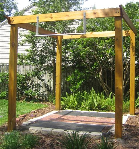 backyard pull up station pergola pull up bar google search exercise for good reasons pinterest pergolas