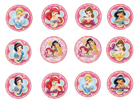 printable 12 mixed disney princess party cup cake toppers 5 best images of free printable princess cupcake toppers
