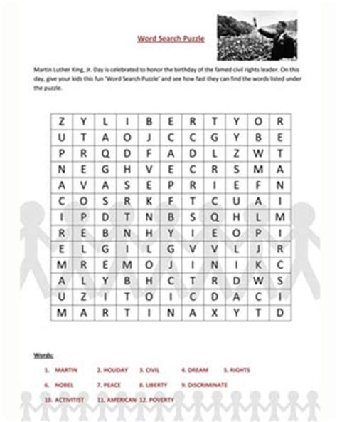 Martin Search Free Worksheets 187 Printable Martin Luther King Jr Worksheets Free Math Worksheets