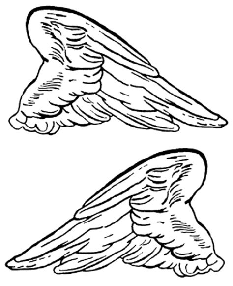 coloring pages of angels with wings printable angel wings cliparts co
