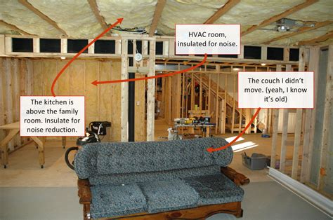 noise basement drywall insulation for noise purposes in a finished