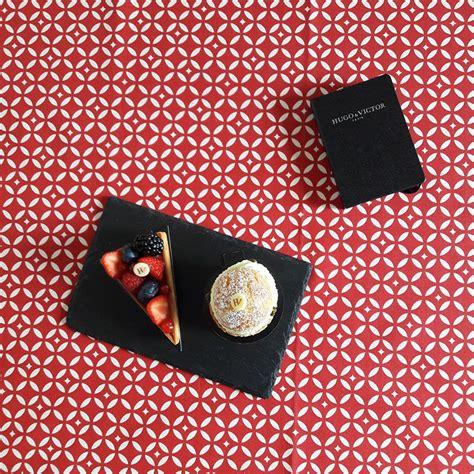 tischdecke rot tischdecke abwaschbar mosaik rot