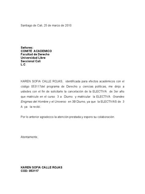 carta de cancelacion de materias uptc carta cancelacion de materias