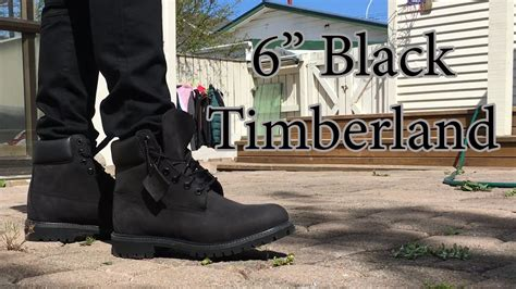 6 inch is timberland 6 inch premium boot black on black on