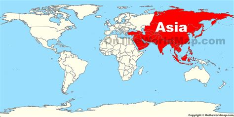 asia location   world map