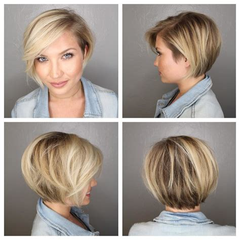 pixie haircut with side swept bangs 360 degrees women s short blonde bob