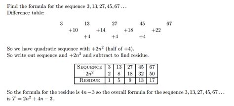 quadratic pattern questions resourceaholic new gcse sequences