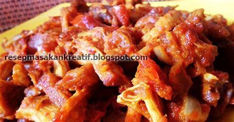 resep gongso ayam suwir bumbu merah aneka resep masakan