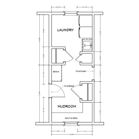 floor plans with mudroom creating a fresh look for an outdated laundry room and