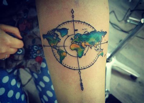 nomad tattoo 50 inspiring travel tattoos for travel addicts nomad