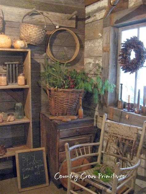 Primitive Home Decor And More by Prim Log Cabin Old Log Cabin Home S Pinterest