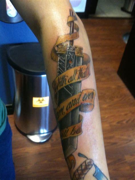ff7 tattoo oh look a buster sword tats a
