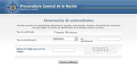 consultar certificado de antecedentes en colombia antecedentes disciplinarios cali procuraduria cali