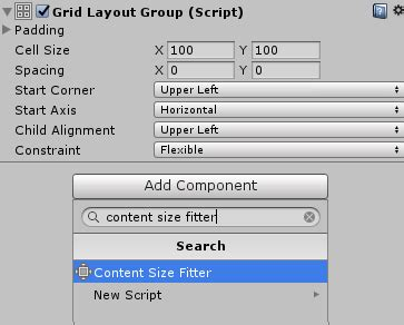 unity grid layout group script unity ui tutorial using scroll views and grid layouts