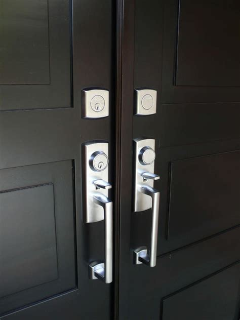 Modern Front Door Handles Modern Front Entry Doors In Mahogany Modern Front Doors Other Metro By Chad