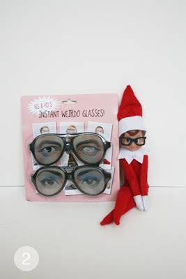 printable elf on the shelf glasses the blogging bean