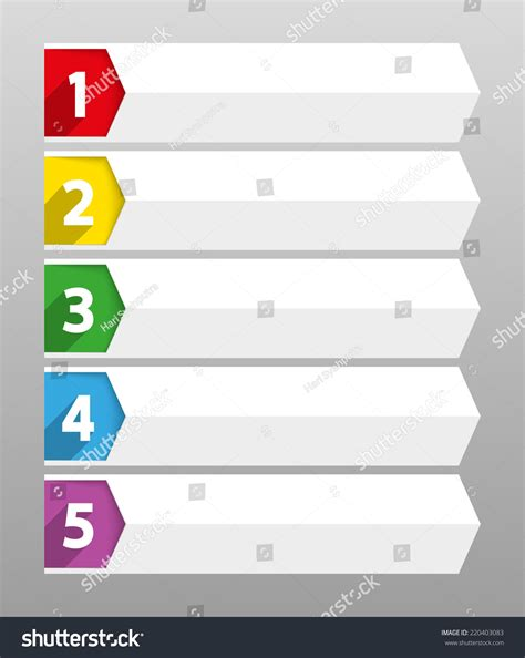 template sequence table contents use template sequence ranking stock vector