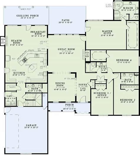 Gourmet Kitchen House Plans by European House Plan 4 Bedrooms 3 Bath 3456 Sq Ft Plan