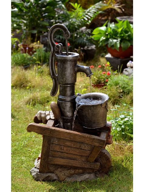 backyard water pump 647 best images about wishing wells water gardens