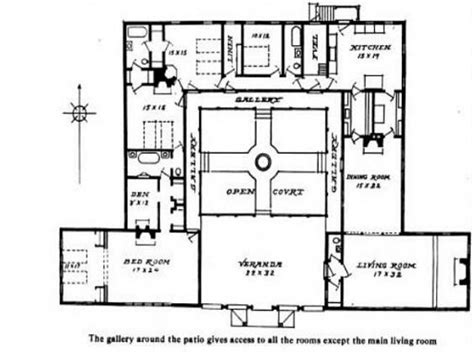 Style House Plans With Courtyard by Hacienda Style House Plans With Courtyard Mexican Hacienda