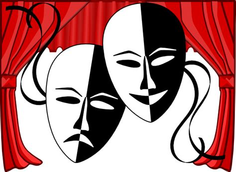 theater clip theatre masks clip at clker vector clip