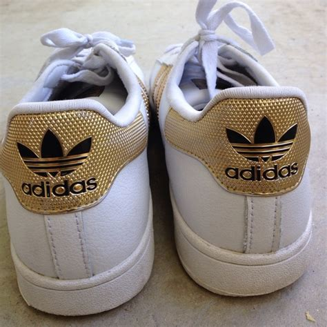 Adidas 5 Stripe White Solid Sport Shoes adidas adidas gold white stripe superstars sneakers from s closet on poshmark