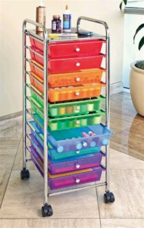 Craft Paper Storage Drawers - storage cart drawer craft rolling paper organizer