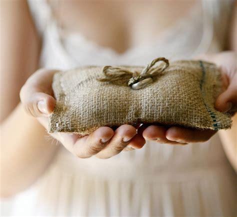 Burlap Ring Pillow by Item Details