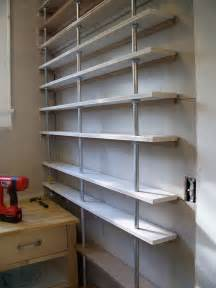 pantry shelves made from pipe ideas