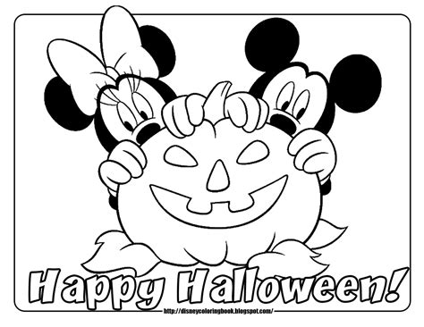 mickey mouse pumpkin coloring page mickey and friends halloween 2 free disney halloween
