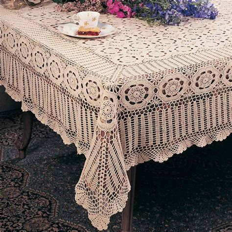 Handmade Crochet Tablecloths For Sale - lace crochet tablecloth oval rectangle or square