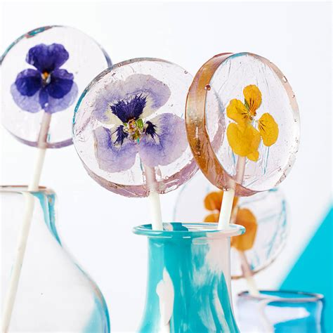 wedding favors lollipops set of ten edible flower lollipop favours by the