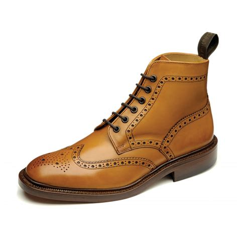 loake burford 2 mens brogue boot in loake from