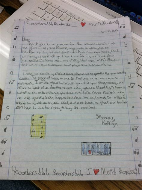 Thank You Letter Template 5th Grade Thank Yous On Donors Choose Teaching In Room 6