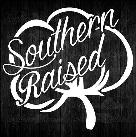 Southern Cotton Stickers southern raised square cotton decal bad bass designs