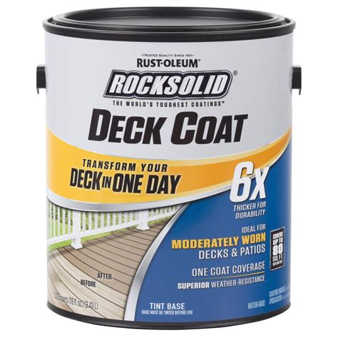rust oleum rocksolid  gal black exterior  deck coat