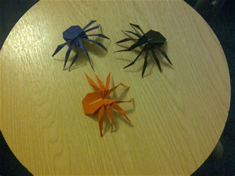 Simple Origami Spider - origami spider photos submitted by readers