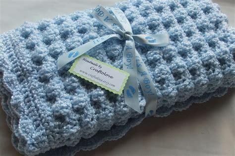 baby boy blanket crochet baby blanket soft blue