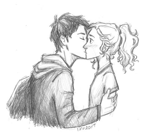 drawing from pictures percabeth by compoundbreadd on deviantart
