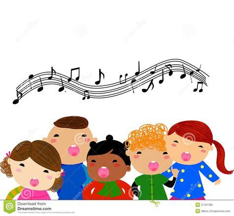 group  children singing royalty  stock photo image