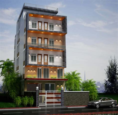 design exterior of luxury apartment building choose color material 3ds file included freelancer