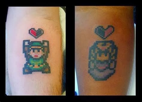 zelda couple tattoos 35 wonderful tattoos for disney fan atic s