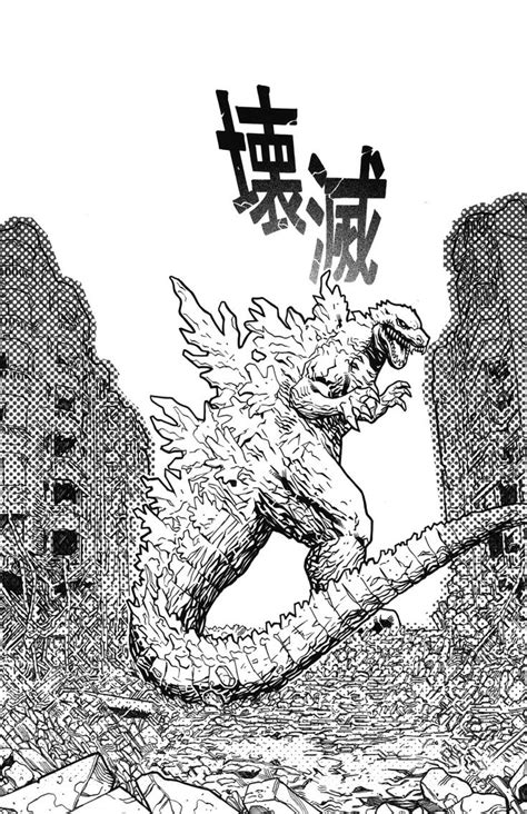 godzilla coloring pages  large images