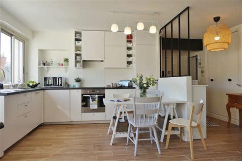 cuisine ouverte sur entr馥 cuisine blanche ouverte sur le salon salle 224 manger