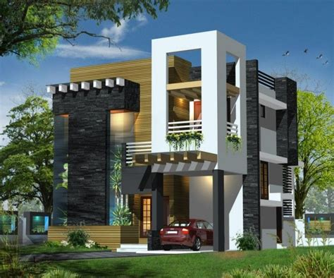 modern design of front elevation of house