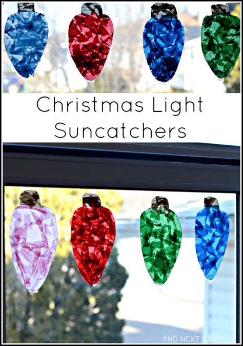 christmas lights craft for kids light suncatchers craft for and next comes l