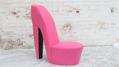 high heel pink leather shoe chairs furniture for cheerful