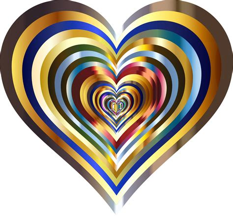 hearts pics for clipart hearts in metallic